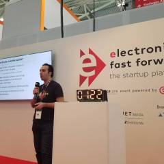 Hexabitz team participating in Electronica 2018 in Munich.