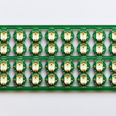 Gold-plated panel of coin cell lithium battery holder modules!