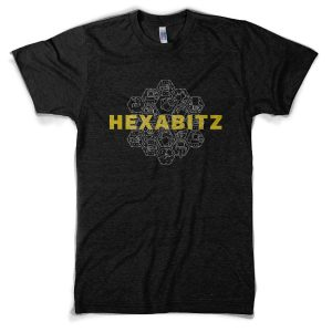 The awesome Hexabitz Bee T-shirt in Heather Black color!